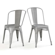 OneBigOutlet Side Chair (Set of 4); Silver