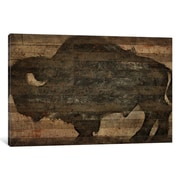 iCanvas Buffalo I by Diego Tirigall Painting Print on Wrapped Canvas; 8'' H x 12'' W x 0.75'' D