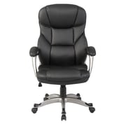 OneBigOutlet Deluxe 27.5'' High-Back Executive Chair; Black