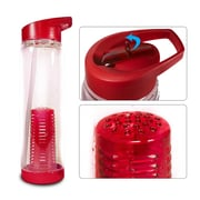Sivan Sorbus  Infuser Water Bottle w/ Extra Straw; Red