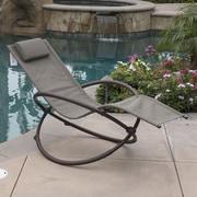 OneBigOutlet Zero Gravity Orbital Lounger Outdoor Patio Yard Chair; Brown