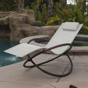 OneBigOutlet Zero Gravity Orbital Lounger Outdoor Patio Yard Chair; Tan