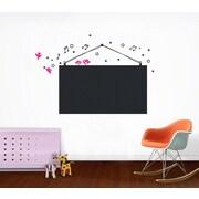 Pop Decors Chalkboard Wall Decal; Black & Hot Pink