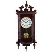 Bedford Clock Classic Chiming Wall Clock with Roman Numeral and Swinging Pendulum