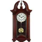 Bedford Clock Colonial Chiming Wall Clock with Roman Numeral