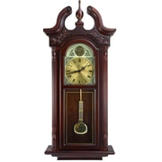 Bedford Clock Grand Colonial Chiming Wall Clock with Roman Numeral