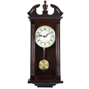 Bedford Clock Classic Chiming Wall Clock with Swinging Pendulum