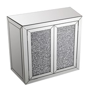 Best Quality Furniture 2 Door Crystal Mirrored Cabinet