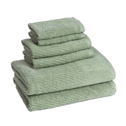American Dawn Inc. New Cambridge Quick Dry 6 Piece Towel Set; Fern