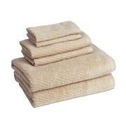 American Dawn Inc. New Cambridge Quick Dry 6 Piece Towel Set; Linen