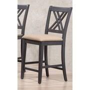 Iconic Furniture 24'' Bar Stool; Black Stone