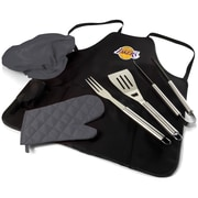 Picnic Time BBQ Apron Tote Pro; Los Angeles Lakers