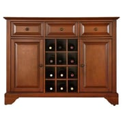 Crosley LaFayette Buffet Server / Sideboard Cabinet; Classic Cherry