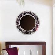 DecorShore Decorative Wall Mirror; Espresso Brown