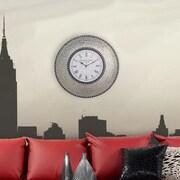 DecorShore 22.5'' Silent Wall Clock; Silver