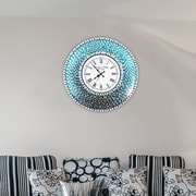 DecorShore 22.5'' Silent Wall Clock; Turquoise
