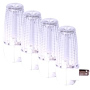 Maxxima LED Night Light With Sensor (Pack of 4), 6.7 x 6.7 x 1.6  (MLN-09-4)