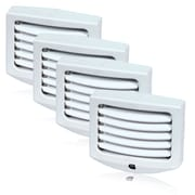 Maxxima LED Night Light with Dawn to Dusk Sensor and Adjustable Louvers - 4 Pack, 1.3 x 3.1 x 2.6 (MLN-11-4)