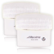 Maxxima 5 LED Warm White Night Light With Sensor (Pack of 2), 7.4 x 4.5 x 3.1 (MLN-50W-02)