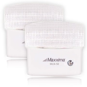 Maxxima 5 LED Night Light With Sensor (Pack of 2), 7.6 x 4.4 x 1.6 (MLN-50-02)