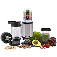 14-Pc. Fusion Xcelerator 1000W Food Emulsifier and Personal Blender Set (Stainless Steel)