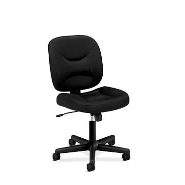 basyx by HON HVL210 Low-Back Task Chair, Center-Tilt, Black Sandwich Mesh