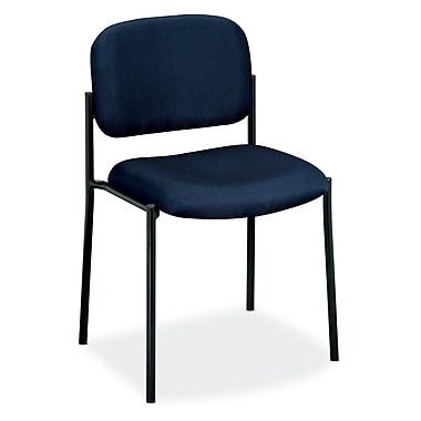 basyx by HON HVL606 Stacking Guest Chair, Navy Fabric