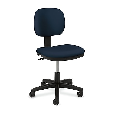 basyx by HON HVL610 Light Duty Task Chair, Back Depth, Navy Fabric