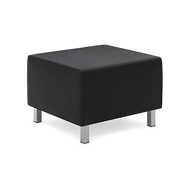 HONMD – Ottomane modulaire pour salle de détente VL862 collection basyx, cuir SofThreadMC, noir