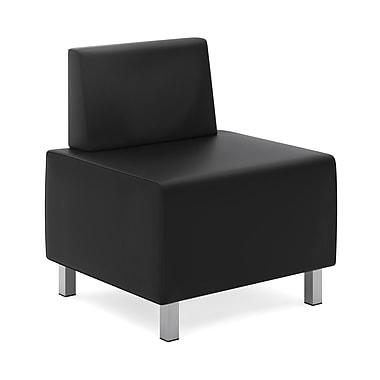 basyx byHON® VL864 Modular Lounge Chair, Black SofThread™ Leather
