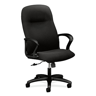 HON Gamut Executive High-Back Desk or Computer Chair, Black Olefin Fabric