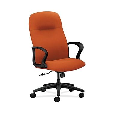 HON® Gamut Executive High-Back Chair, Center-Tilt, Fixed Arms, Tangerine Fabric