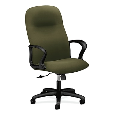 HON Gamut Executive High-Back Desk or Computer Chair, Olivine Polyester Fabric