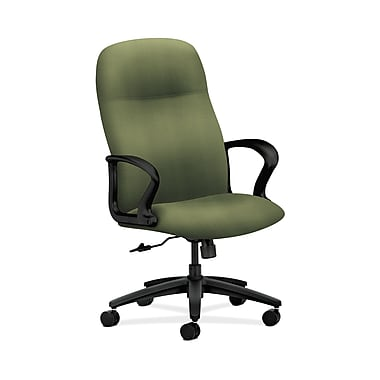 HON® Gamut Executive High-Back Chair, Center-Tilt, Fixed Arms, Clover Fabric