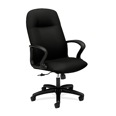 HON Gamut Executive High-Back Desk or Computer Chair, Black Polyester Fabric