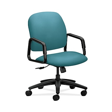HON® Solutions Seating High-Back Chair, Center-Tilt, Fixed Arms, Glacier Fabric