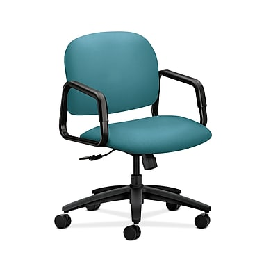HON® Solutions Seating Mid-Back Chair, Center-Tilt, Fixed Arms, Glacier Fabric