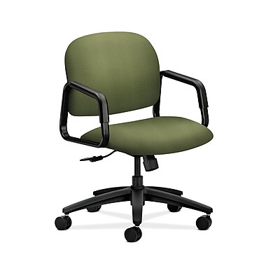 HON® Solutions Seating Mid-Back Chair, Center-Tilt, Fixed Arms, Clover Fabric