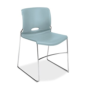 HON® Olson High-Density Stacking Chair, Surf Shell, 4/Pack