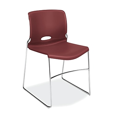 HON Olson High-Density Stacking Chair, Mulberry Shell, 4/Pack