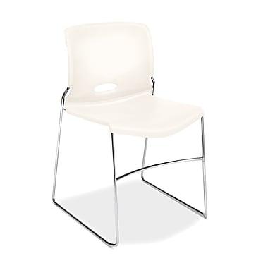 HON® Olson High-Density Stacking Chair, White Shell, 4/Pack