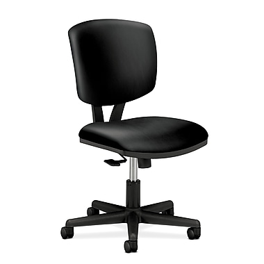 HON Volt Task Chair, Synchro-Tilt, Black SofThread Leather