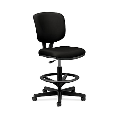 HON Volt Task/Drafting Stool, Extended Height, Footring, Black Fabric