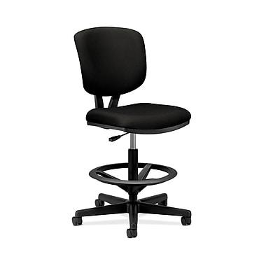 Hon – Tabouret fonctionnel/pour dessinateur Volt, hauteur étendue, repose-pieds, tissu noir