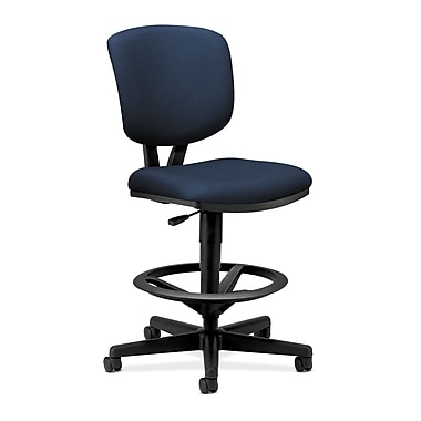 HON Volt Task/Drafting Stool, Extended Height, Footring, Navy Fabric
