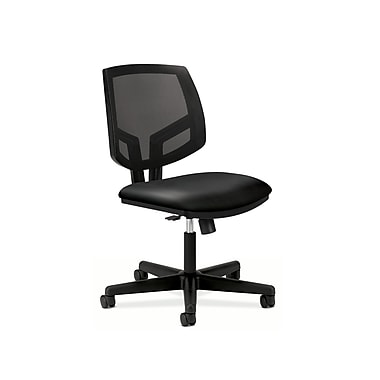 HON Volt Mesh Back Task Chair, Synchro-Tilt, Black Soft Thread Leather