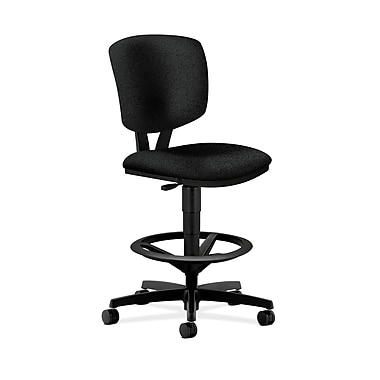HON Volt Task/Drafting Stool In 100% Olefin, Black Fabric