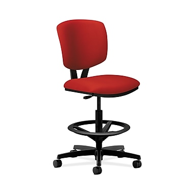 HON® Volt Task Stool, Extended Height, Footring, Tomato Fabric