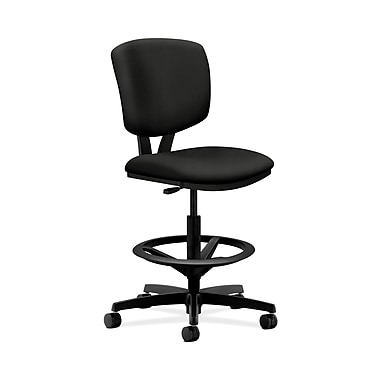 HON® Volt Task Stool, Extended Height, Footring, Black Fabric