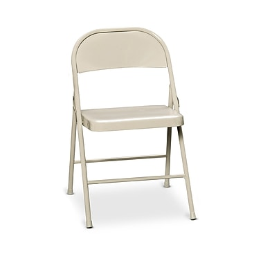 HON HFC01 Steel Folding Chair, Light Beige Finish, 4 per Carton